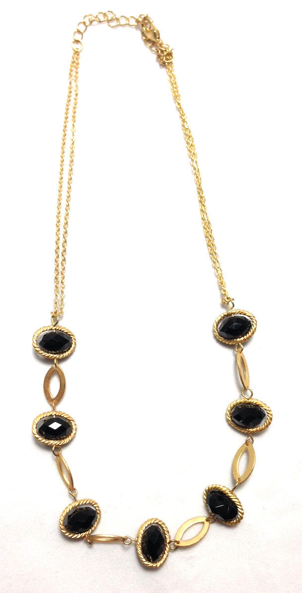 Black Orbit Necklace