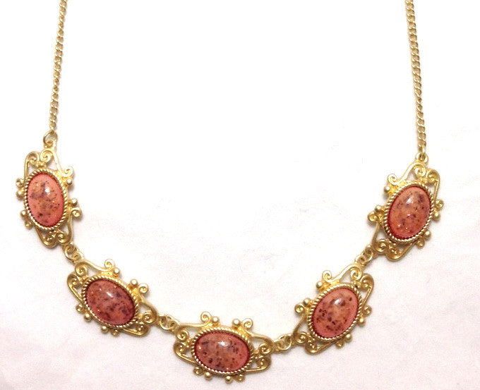 Pink Antique Necklace