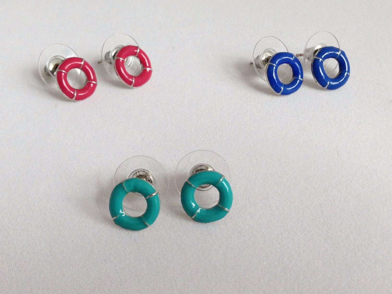 Turquoise LifeSaver Stud Earrings