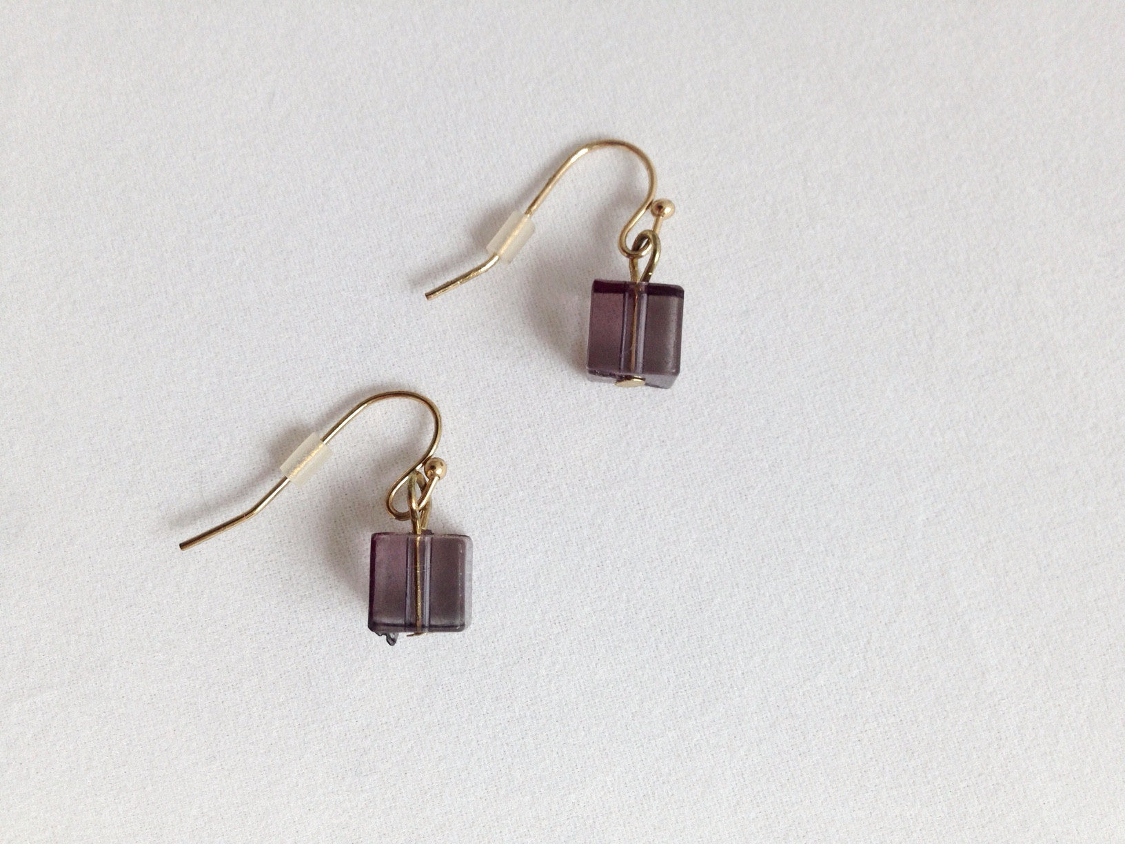 Smoky Cube Earrings