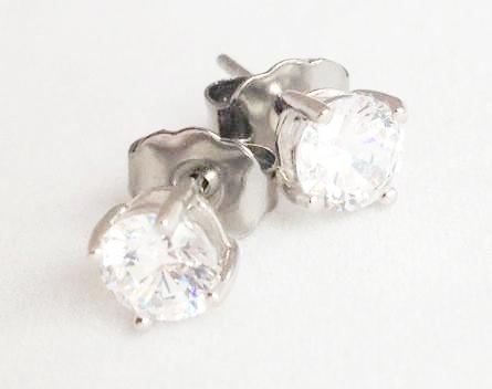 4 Prong Rhinestone Stud Earrings