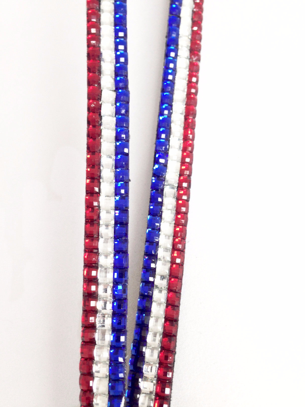 Red White & Blue Rhinestone Lanyard