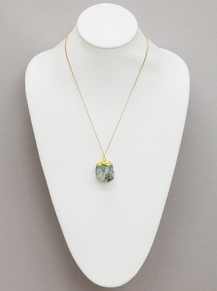 Mint opal dipped in gold necklace vanett mint opal dipped in gold necklace aloadofball Images