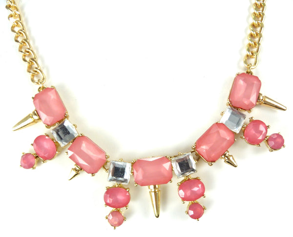 Pink Spike Necklace from Vanett $15