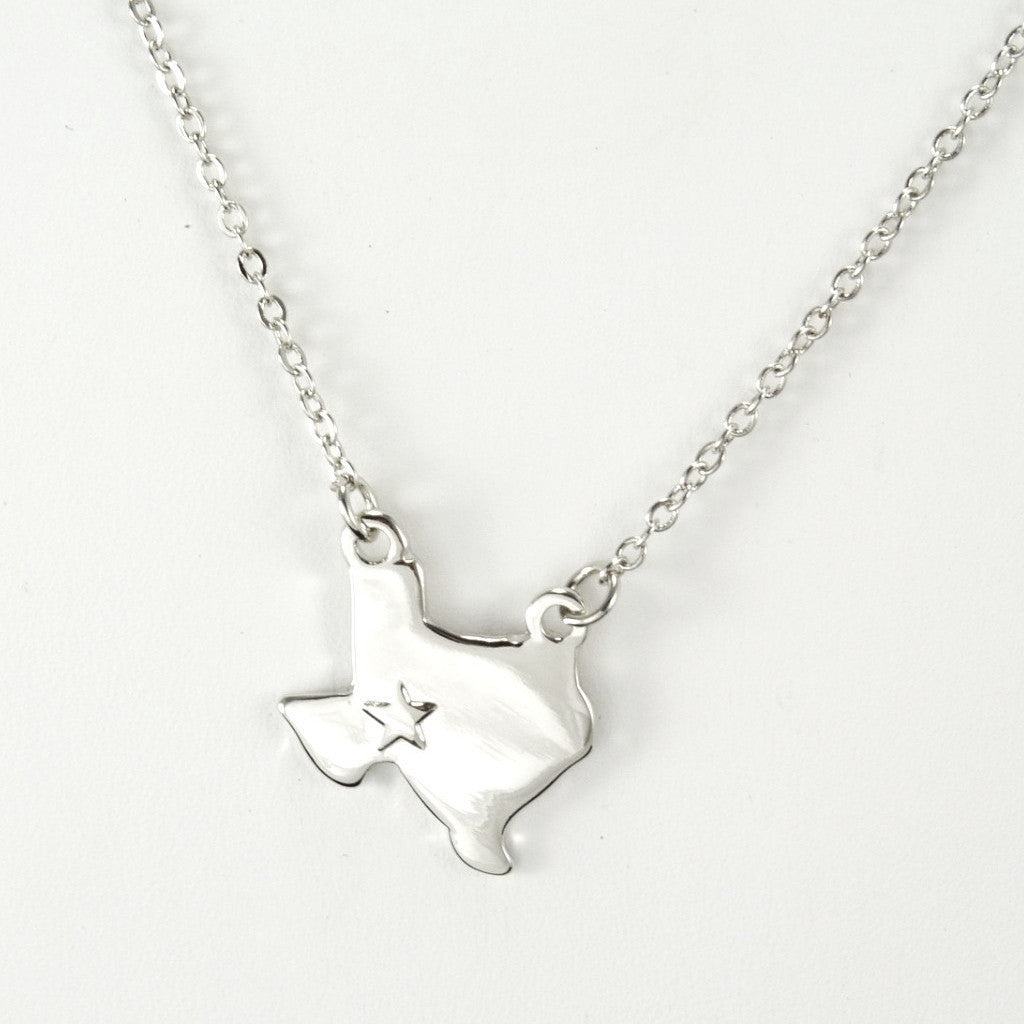 Heart of Texas Silver Necklace