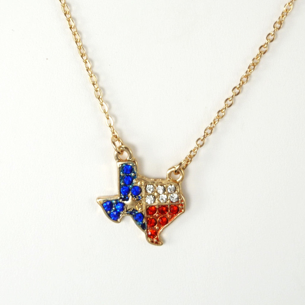 Bling Heart of Texas Necklace