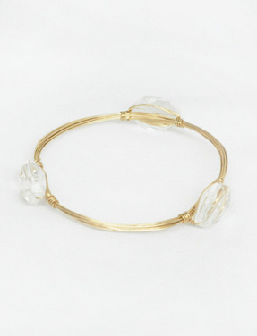 Clear Gemstone Bracelet