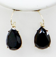 Black Tear Drop Earrings