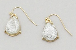 White Weaved Earrings