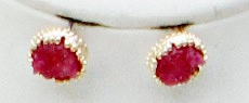 Raspberry Druzy Earrings