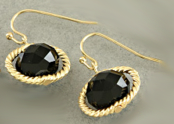 Black Orbit Earrings
