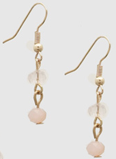 Pink Beaded Drop Earrings