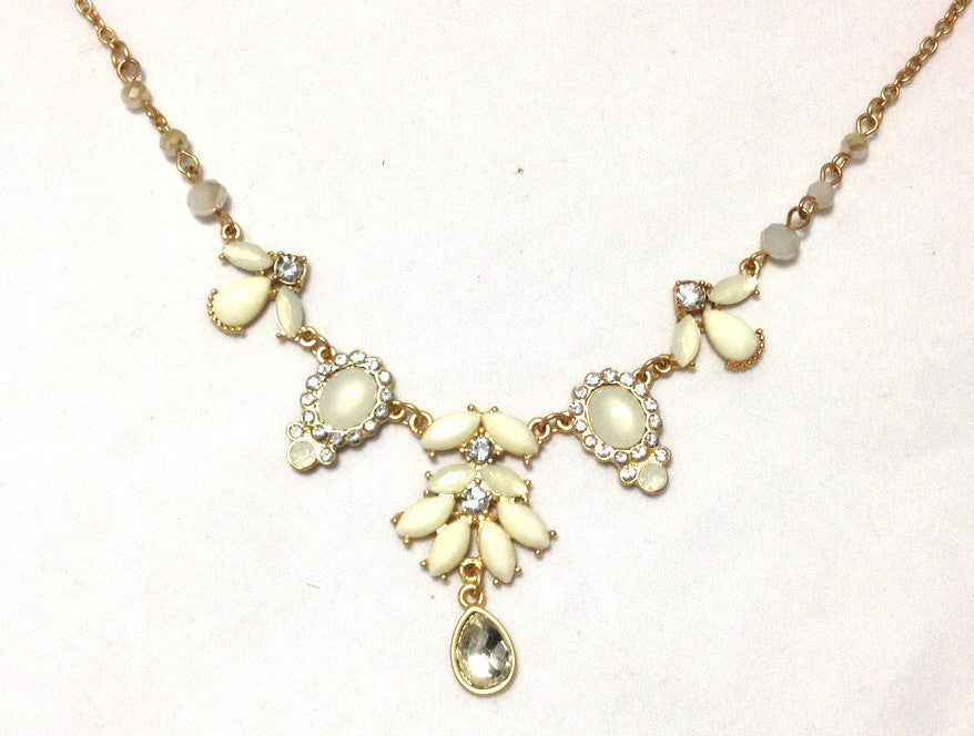 Opals and Cream Necklace