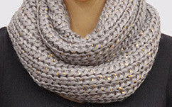 Snuggle Infinity Scarf - Gray