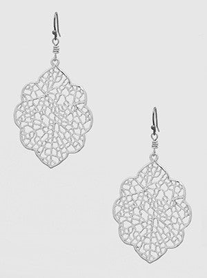 Open Cut Metal Drop Earrings