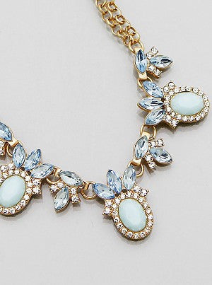 Mint & Blue Glamour Necklace