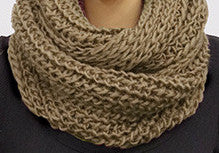 Snuggle Infinity Scarf - Brown
