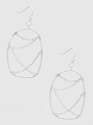 Wire Wrapped Geometric Shape Earrings