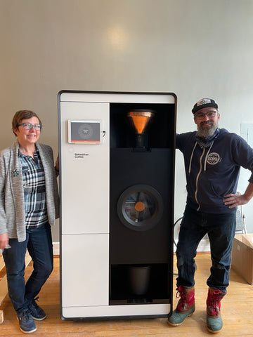 Melissa and Joe with Bellwether Roaster