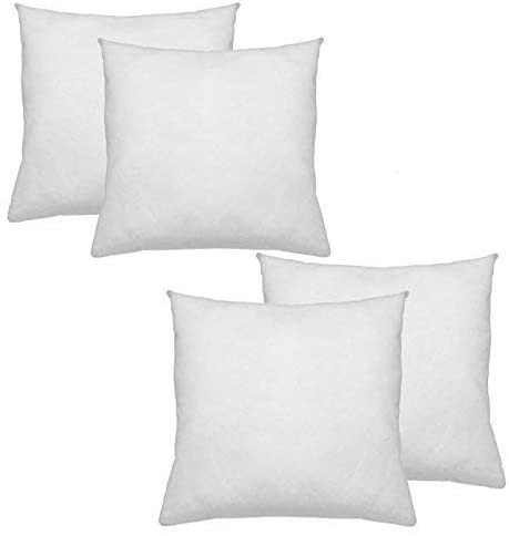 "IZO All Supply Premium Hypoallergenic Polyester Decorative Throw Pillow Insert, 18"" L x 18"" W (4 Pack)"