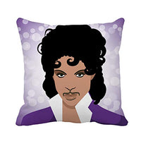 Topyee Throw Pillow Cover April 21 2016 Illustrative Editorial Drawing of Musical Artist Prince Prince Singer 18x18 Inch Home Decor Pillowcase Square Pillow Case Cushion Cover for Couch Bed