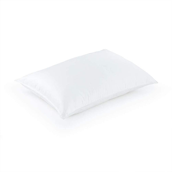 "Silky Soft 400 TC Sateen Cotton White Hypoallergenic Primaloft Luxury Down Alternative Pillow - Sold Individually (King 20"" x 36"")"