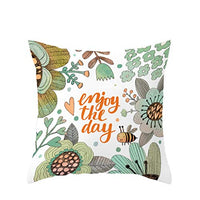 Keepfit Happy Easter Spring Throw Pillow Covers Bee Bunny Flowers Decorative Cushion Cases Home Decoration for Couch Sofa Outdoor (C)