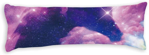 Yilooom Universe Space Nebula Galaxy Horse Pattern Decorative Cotton Polyester Body Pillow Case Cover, 20-Inch x 54-Inch Body Pillowcase Protector for Home Couch Sofa Bedding