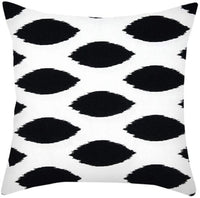 Decorative Throw Pillow Covers Modern Simple Style Soft Short Plush Square Black and White Geometric Cushion Cover for Couch, Sofa or Bed (18''×18'', P)