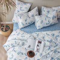 "Leaves Print Floral Pillowcases Standard King Luxury Pillow Shams Smooth Egyptian Cotton Pillow Covers Home Decorative Pillowcases for Girls Adults, Buttons Closure, (2 Pieces, 20""×36"")"