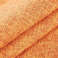 KINBEDY Cozyholy Burlap Linen Decorative Throw Pillow Covers Solid Square Couch Cushion Covers Pillow Cases for Sofa Bed Car, Set of 2 (24x24 Inch, Orange)