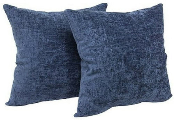 "Mainstays Chenille 18"" x 18"" Decorative Pillow, Set of 2, (Navy)"