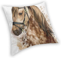 Horse Head Decorative Pillow Case Home Decor Pillowcase Gifts Colourful (18x18 Inches)