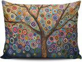 SALLEING Modern Beauty Colorful Painting Trees One Side Decorative Pillowcase Standard Zippered Throw Pillow Case Cushion Cover 20x26 inches