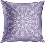 ArtSocket Set of 4 Throw Pillow Covers Gray Lavender Purple Grey Dahlia Floral Flowers Blooms Blossoms Swirly White Elegant Decorative Pillow Cases Home Decor Square 18x18 Inches Pillowcases