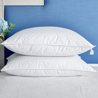PEACE NEST Luxury Down Pillows for Sleeping 100% Natural Cotton Cover for Side and Back Sleepers Set of 2 Standard Size