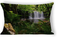 Yilooom Waterfall Grass Nature Shadow 92753 1920x1200 Rectangle Decorative Cotton Linen Throw Pillow Case Cushion Cover Lumbar Pillowcase for Couch Sofa Bed 20 X 30 Inches
