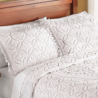Collections Etc Victoria Plush Chenille Ring-Style Fringe Pillow Sham, Lavender, Sham
