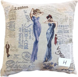Tache 2 Pieces 18 X 18 Square Postmarked with Love Vintage Farmhouse Colorful Handsome Rooster Sofa Couch Decorative Accent Cushion Throw Pillow Cover
