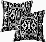 HerysTa Throw Pillow Covers, Home Decorative Cotton Pillow Covers 18X18Inch Invisible Zipper Cushion Cases Geometric Pattern Native Southwest American Print Ethnic Fabric Bed Pillow Covers