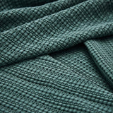 URBANARA Anadia Bedspread - 100% Cotton, Throw-Style Coverlet Blanket Woven in Detailed Waffle Pattern - Soft, Breathable for Cool and Warm Nights - for Queen Size Bed or Couch - 94 x 104, Green