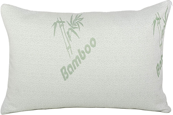 Sapphire Home Shredded Bamboo Memory Foam Bed Pillow, Hypoallergenic, Removable Cover with Zipper, Soft Keep Cool Bamboo Foam, Side/Back/Stomach Sleeper Support Pillow, King Size Bamboo Pillow