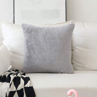 Home Brilliant Pillow Covers Plush Lambskin Faux Fur Suede European Throw Pillow Sham Super Soft Large Cushion Cover for Sofa, 1 Pc, Pillow Not Included, 26 inches, Grey