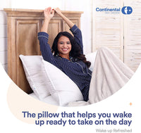 Continental Bedding Premium 100% White Goose Down Medium Firm Pillow. Standard Size [Firm] (Set of 2)