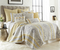 Levtex Home St. Claire Euro Sham Set of 2, Cotton, Beige, Paisley