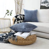 Home Brilliant Decorative Throw Pillow Covers Large Cushion Covers for Sofa Bed Living Room, 26x26 inch (66cm), Dark Blue