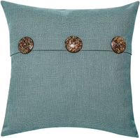 "Better Homes & Gardens Feather Filled Three Button Decorative Throw Pillow, 20"" x 20"", Dark Teal"
