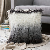 Decorative Luxury Throw Pillow Covers Color Changed Fur Pillow Cases Soft Pillow Shams Cushion Covers for Home Decoration