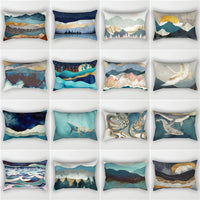 Elife Bohemian Mountain Polyester Cotton Linen rectangular pillow shams pillow case throw Cushion Cover For Sofa car 30x50cm