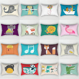 Elife Bohemian Cartoon Anima Polyester decorative pillow shams rectangular pillows throw Cushion Cover For Sofa Car Baby 30x50cm